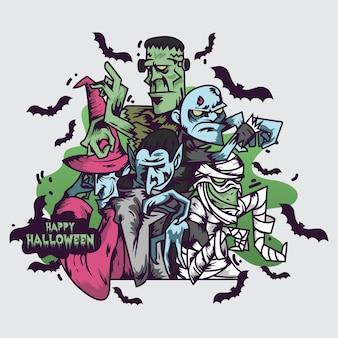 Gelukkige halloween-illustratie
