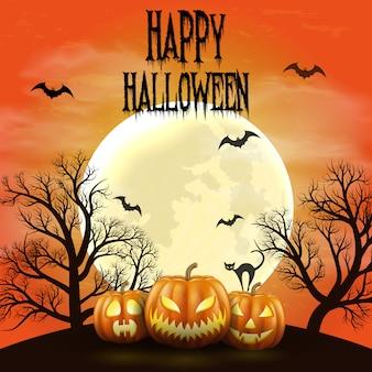 Gelukkige halloween-nachtachtergrond