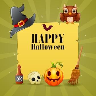 Gelukkige halloween-ontwerpillustratie als achtergrond