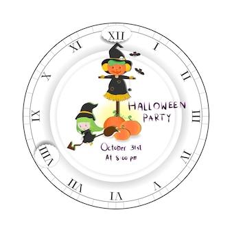 Gelukkige halloween-partijuitnodiging