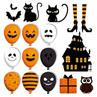 Gelukkige halloween-reeks