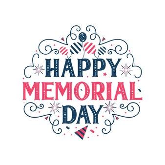 Gelukkige herdenkingsdag, 4 juli gelukkige onafhankelijkheidsdag belettering gratis