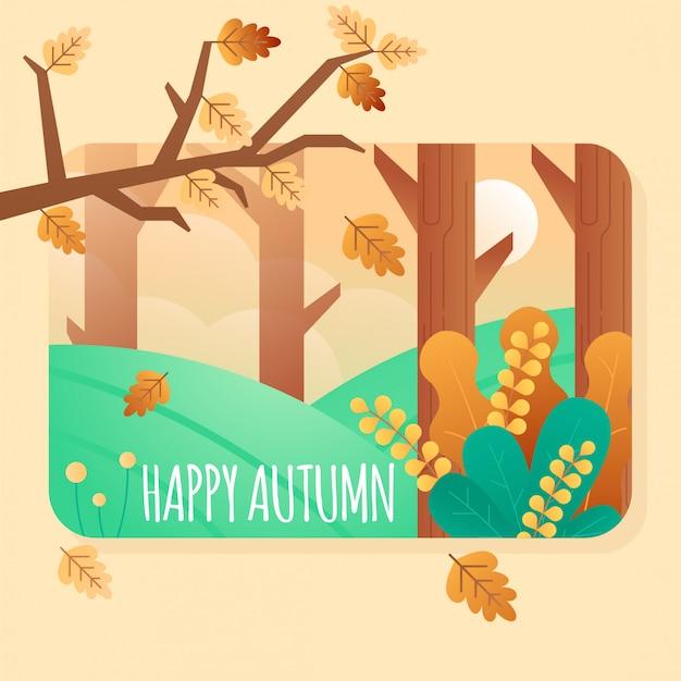 Gelukkige herfst vector
