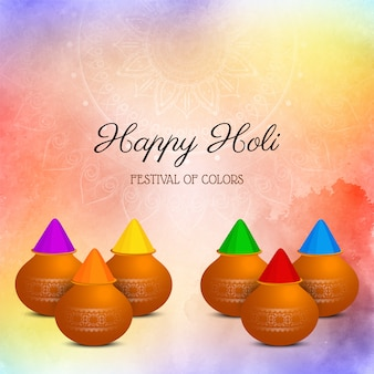 Gelukkige holi indiase religieuze festival achtergrond