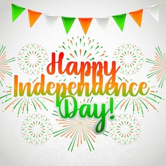 Gelukkige india onafhankelijkheidsdag kaart