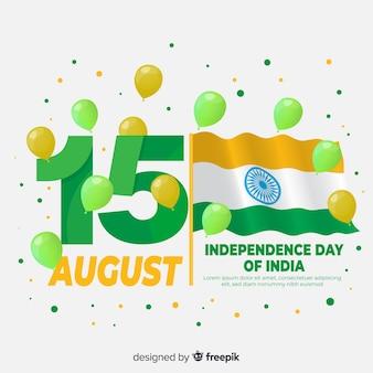 Gelukkige indische onafhankelijkheidsdag achtergrond