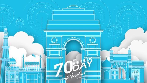 Gelukkige indische republiek dag
