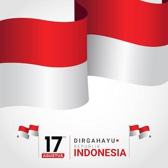 Gelukkige indonesië independence day wenskaart