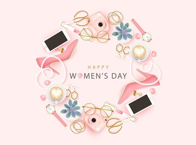 Gelukkige internationale vrouwendag achtergrond