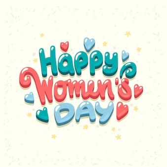 Gelukkige internationale vrouwendagviering.