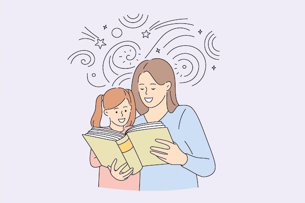 Gelukkige jeugd en tijd doorbrengen met kinderen concept