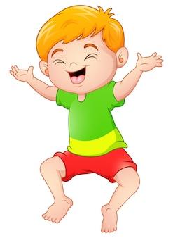 Gelukkige jongen cartoon