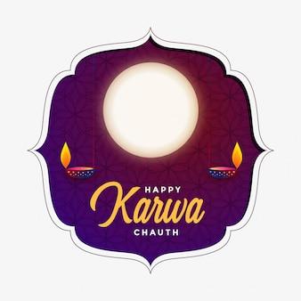Gelukkige karwa chauth-achtergrond