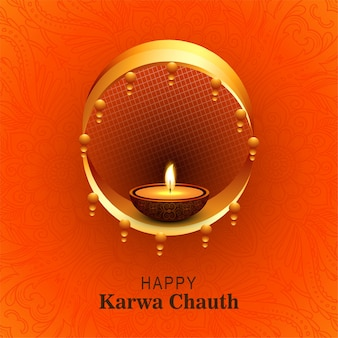 Gelukkige karwa chauth-festivalkaartachtergrond