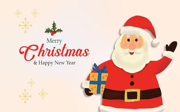Gelukkige kerstman kerst achtergrond