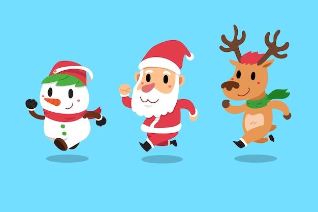 Gelukkige kerstmis metgezellen de kerstman