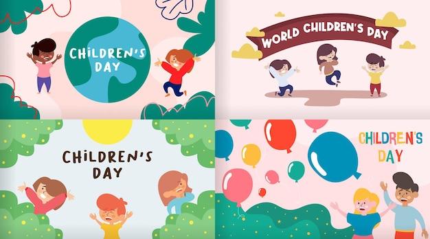 Gelukkige kinderen dag achtergrond afbeelding