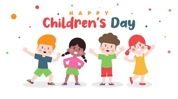 Gelukkige kinderen dag illustratie