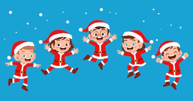 Gelukkige kinderen glimlachen lach expressie set