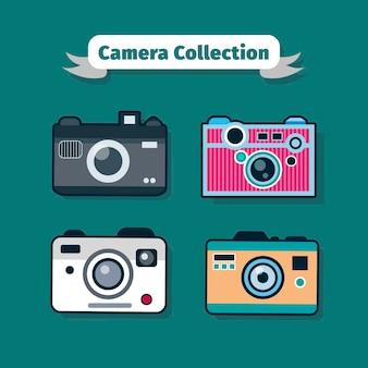 Gelukkige kleurrijke camera collectio
