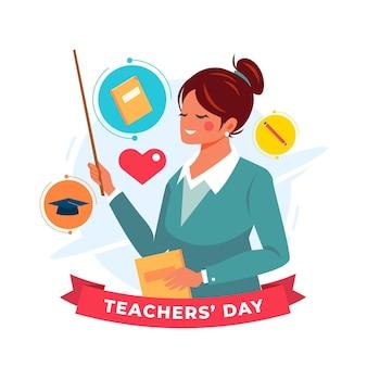 Gelukkige lerarendag illustratie