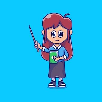 Gelukkige lerarendag schattige illustratie
