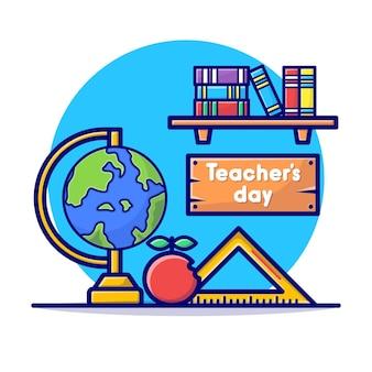 Gelukkige lerarendagkaart met stationair