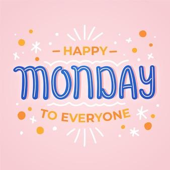 Gelukkige maandag abstracte achtergrond