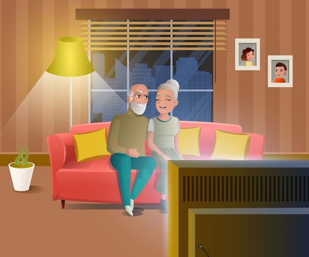 Gelukkige mensen op pensioen cartoon vector concept