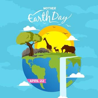 Gelukkige moeder aarde dag achtergrond