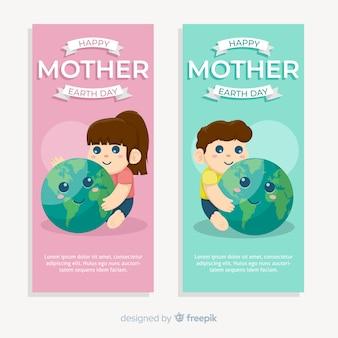 Gelukkige moeder aarde dag