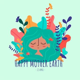 Gelukkige moeder aarde
