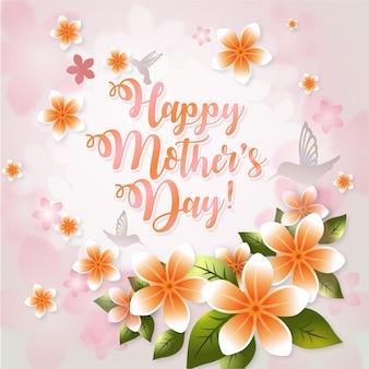 Gelukkige moederdag achtergrond desgin
