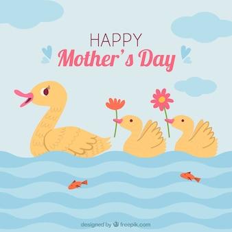 Gelukkige moederdag achtergrond met familie