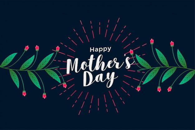 Gelukkige moederdag bloemen begroeting achtergrond