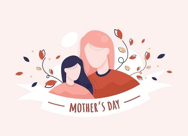 Gelukkige moederdag bloemen wenskaart