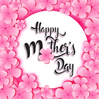 Gelukkige moederdag in roze frame