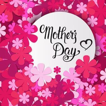 Gelukkige moederdag, lente vakantie wenskaart banner