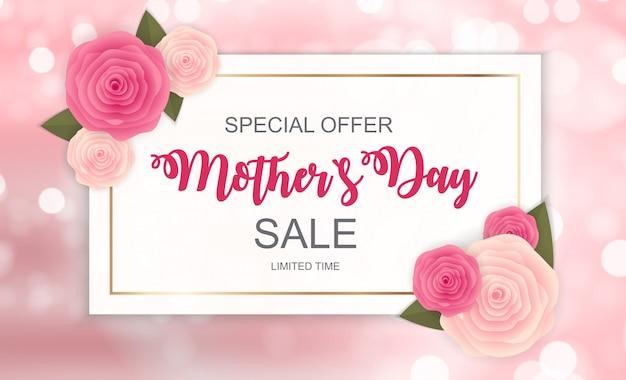 Gelukkige moederdag leuke verkoop banner