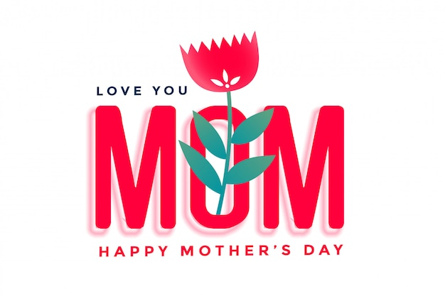 Gelukkige moederdag mooie groet met bloem