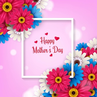 Gelukkige moederdag poster ontwerp illustratie