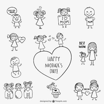 Gelukkige moederdag tekeningen