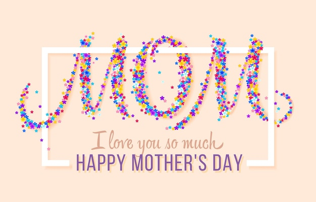 Gelukkige moederdag. vector feestelijke vakantie illustratie met bloemen