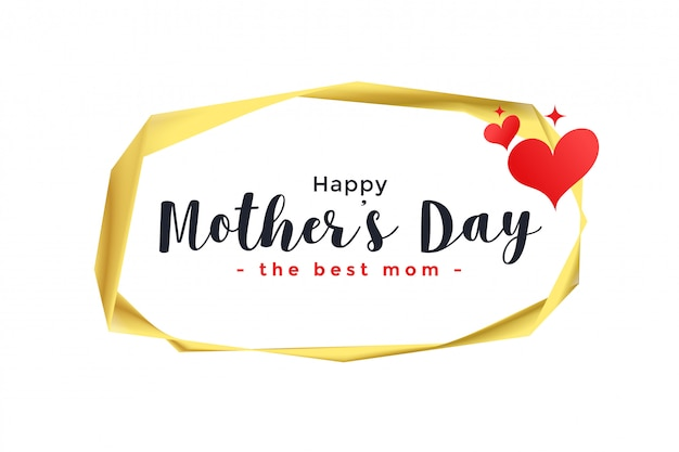 Gelukkige moeders dag harten achtergrond
