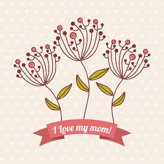 Gelukkige moeders dag kaart vectorillustratie