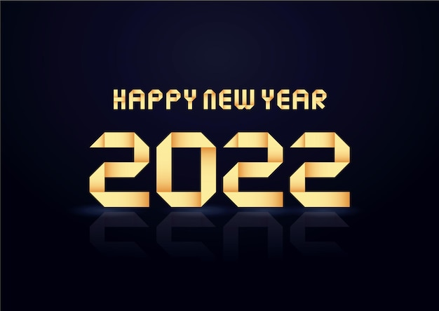 Gelukkige nieuwe 2022 jaar vakantie vectorillustratie van gouden nummers 2022 elegante feestelijke poster