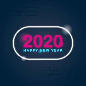 Gelukkige nieuwe jaar 2020 achtergrondillustratievector