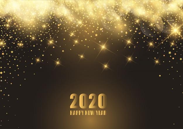 Gelukkige nieuwjaarachtergrond met sterrig