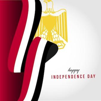 Gelukkige onafhankelijke dag sjabloon illustratie