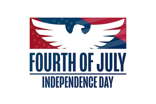 Gelukkige onafhankelijkheidsdag. 4 juli. vakantieconcept. sjabloon voor achtergrond, spandoek, kaart, poster met tekstinscriptie. vectoreps10-illustratie.
